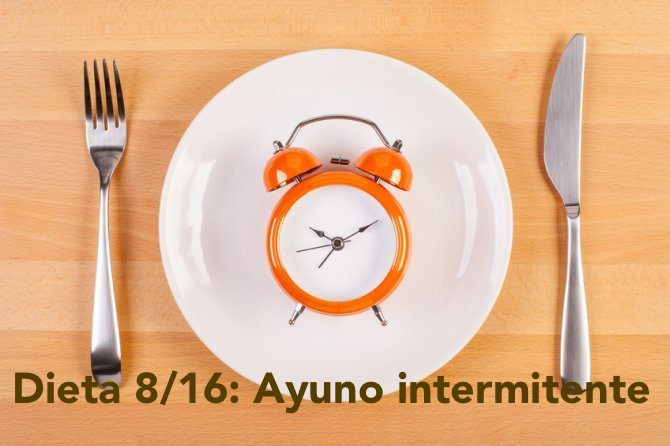 Ayuno intermitente, Dieta 8/16