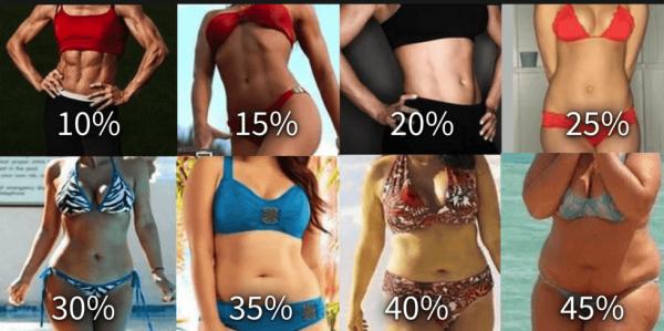 porcentajes de grasas