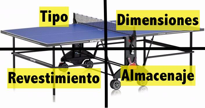 Elegir una mesa de ping pong