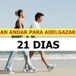Plan de andar de 21 días que le ayudará a perder peso