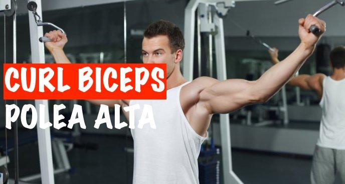 Curl de Biceps en Polea Alta