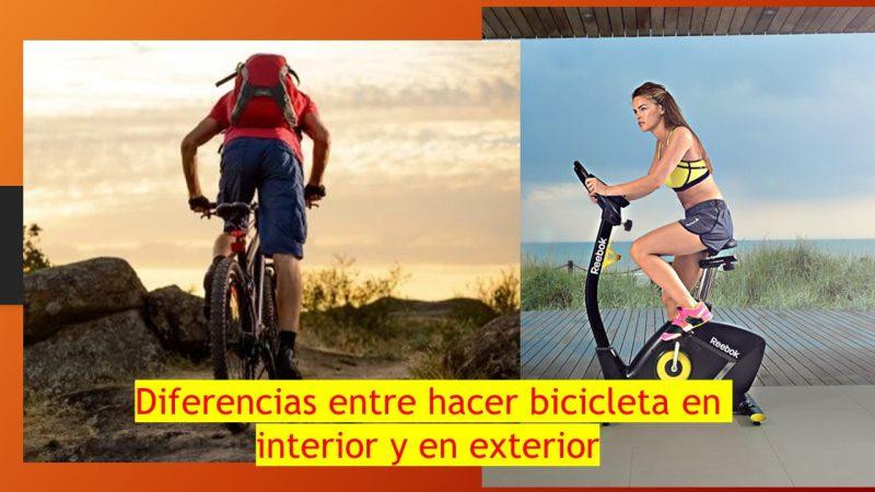 diferencias bici estatica bici montaña