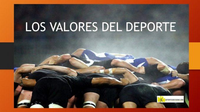 equipo mostrando los valores del deporte