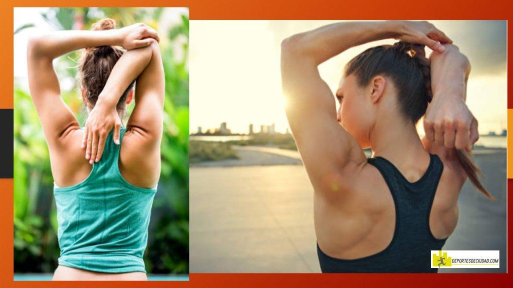 estiramientos para triceps