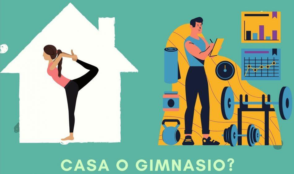 entrenar en casa o en el gimnasio