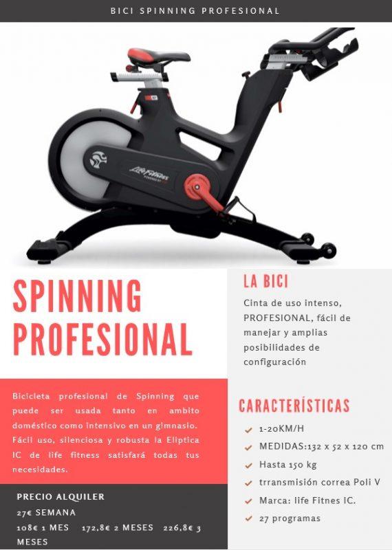alquiler bicicleta spinning