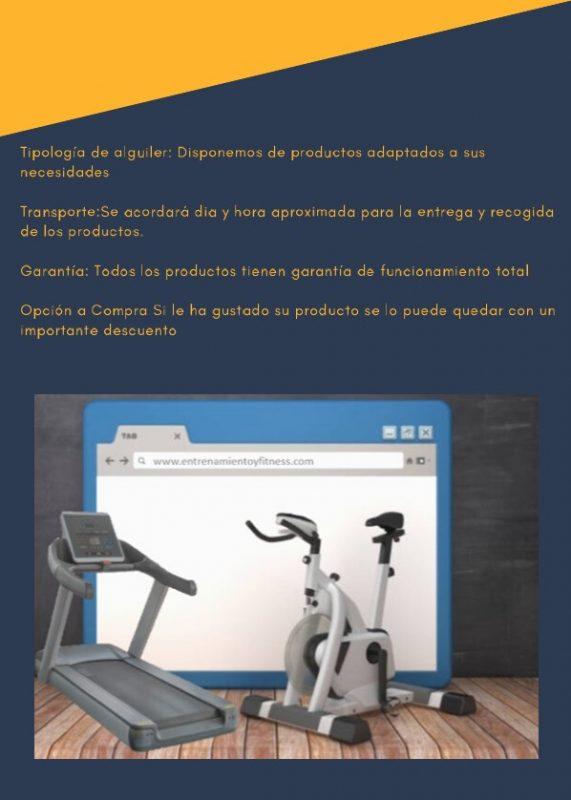 tipología de alquileres de equipamiento fitness